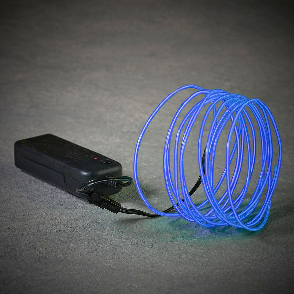 Cuerda De Neon Color Azul 275Cm