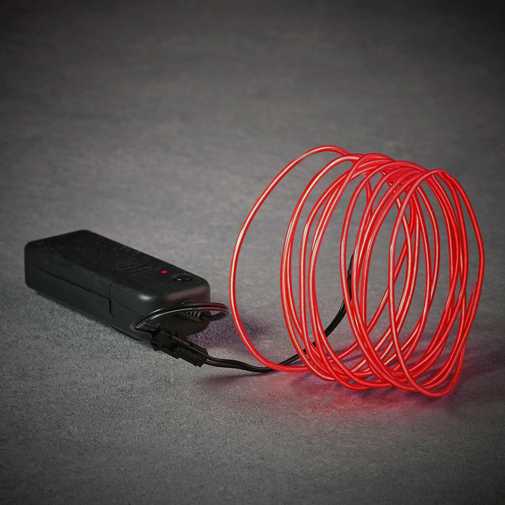 Cuerda De Neon Color Rojo 275Cm
