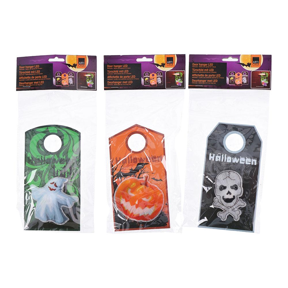 Colgador Para Puerta Especial Halloween Con 1 Led