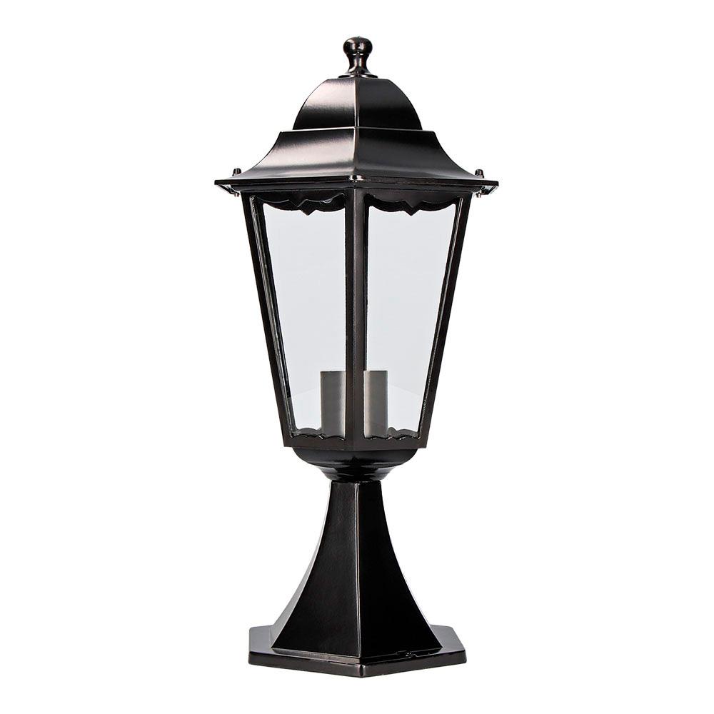 Farol Aluminio Sobremuro Negro 49,5Xø23Cm Edm Mod. Marsella