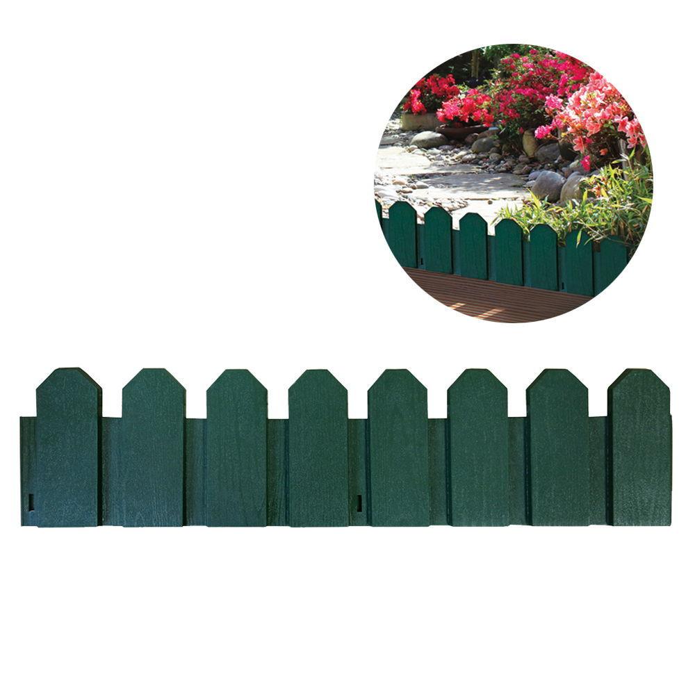 *Ult. Unidades* Bordura De Polietileno Color Verde 20X80Cm (Pack 4 Unid.) Incluye Piqueta De Fijacion