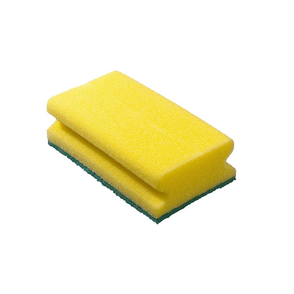 *Ultimas Unidades*  Pack De 6 Esponjas Ergonomicas Con Fibra 15X9X4,5Cm