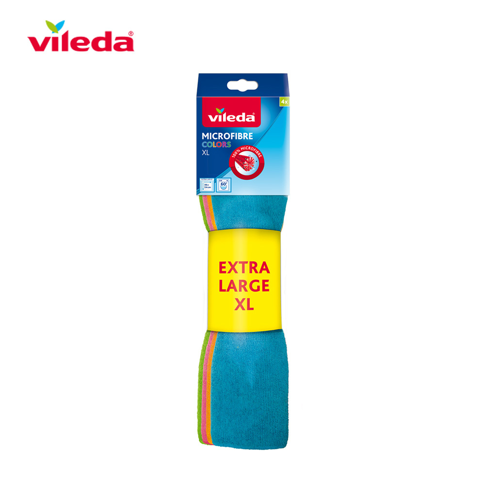 Bayeta Microfibra Colors Xl 4 Uds 159616 Vileda