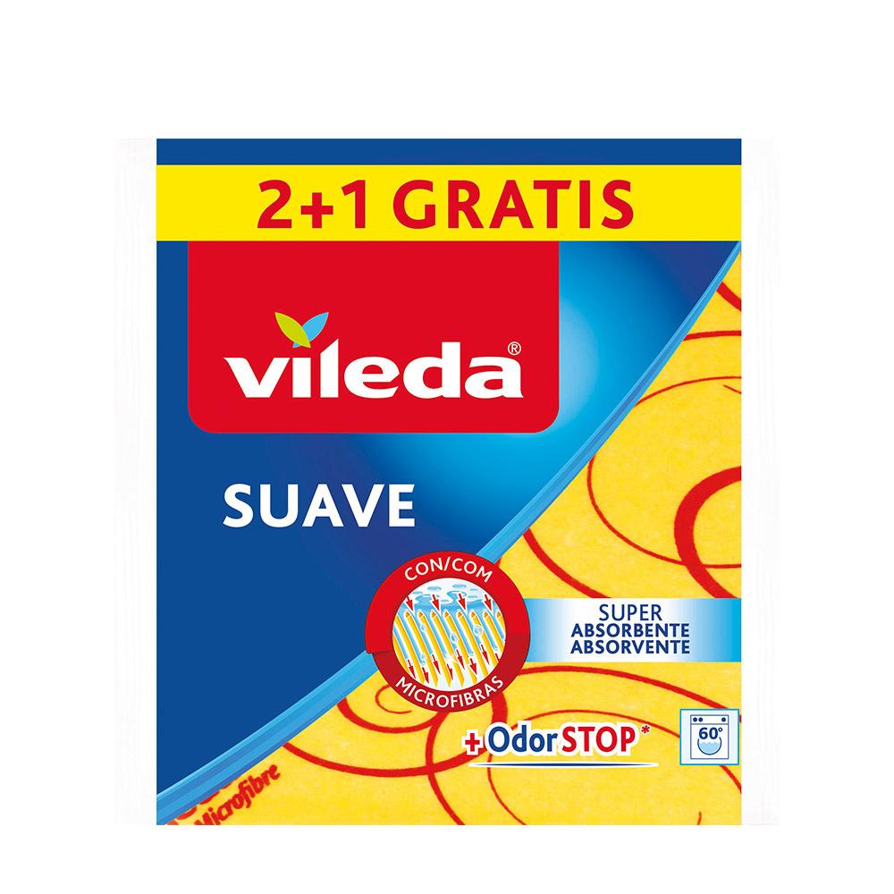 Bayeta Amarilla Suave 2+1 30% Microfibra 142011 Vileda