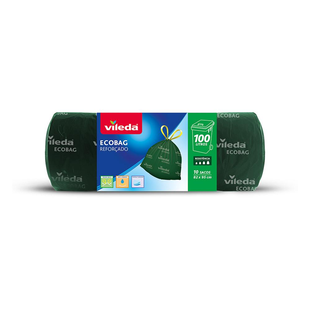Bolsa Basura Ecobag 100L Reforzada 10 Sacos 152001 Vileda