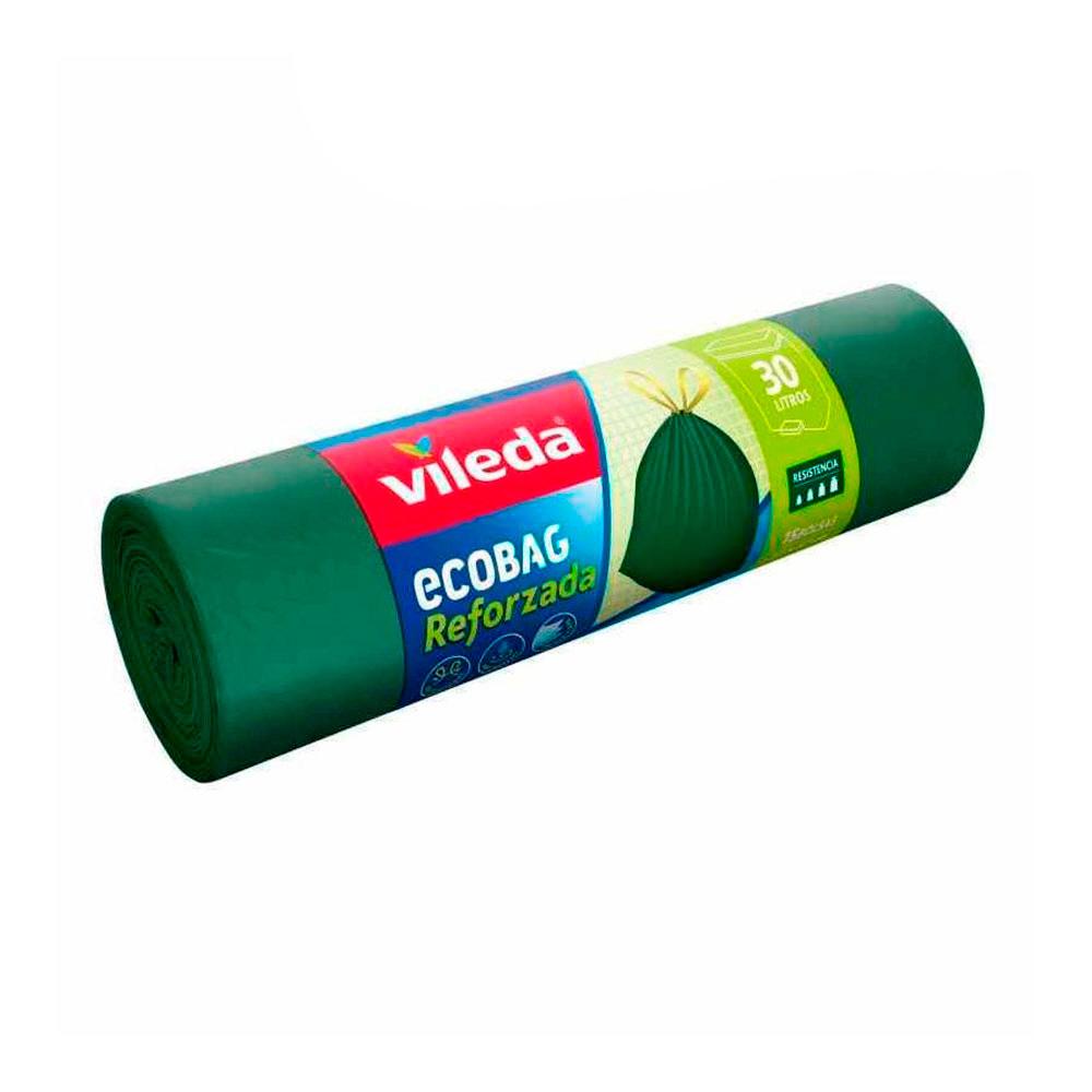 Bolsa Basura Ecobag 30L Reforzada (15 Bolsas) 151985 Vileda