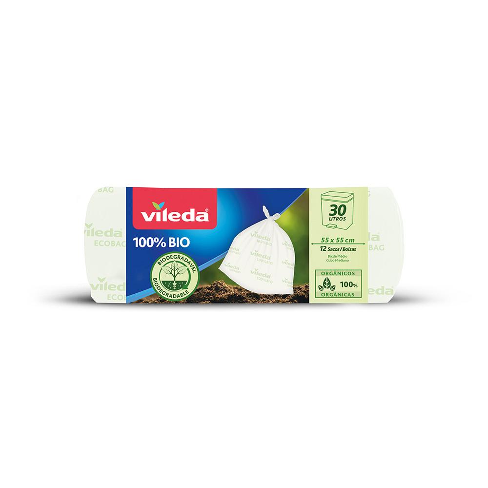 Bolsa Basura Ecobag 100% Biodegradables 30L 163222 Vileda