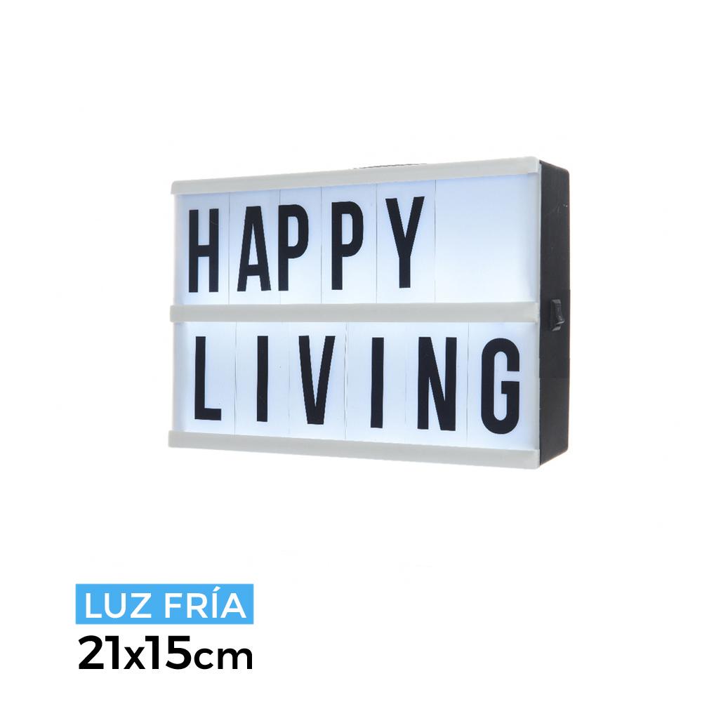 *Ult. Unidades* Caja Mensajes De Mensajes De Led Luz Fria Fria 21X15X4.2Cm