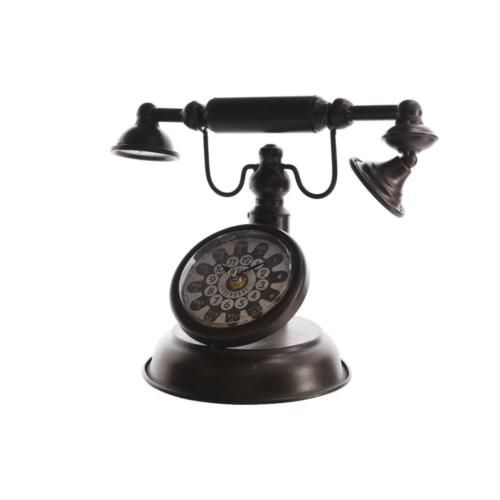 Reloj Decorativo De Hierro Modelo Telefono