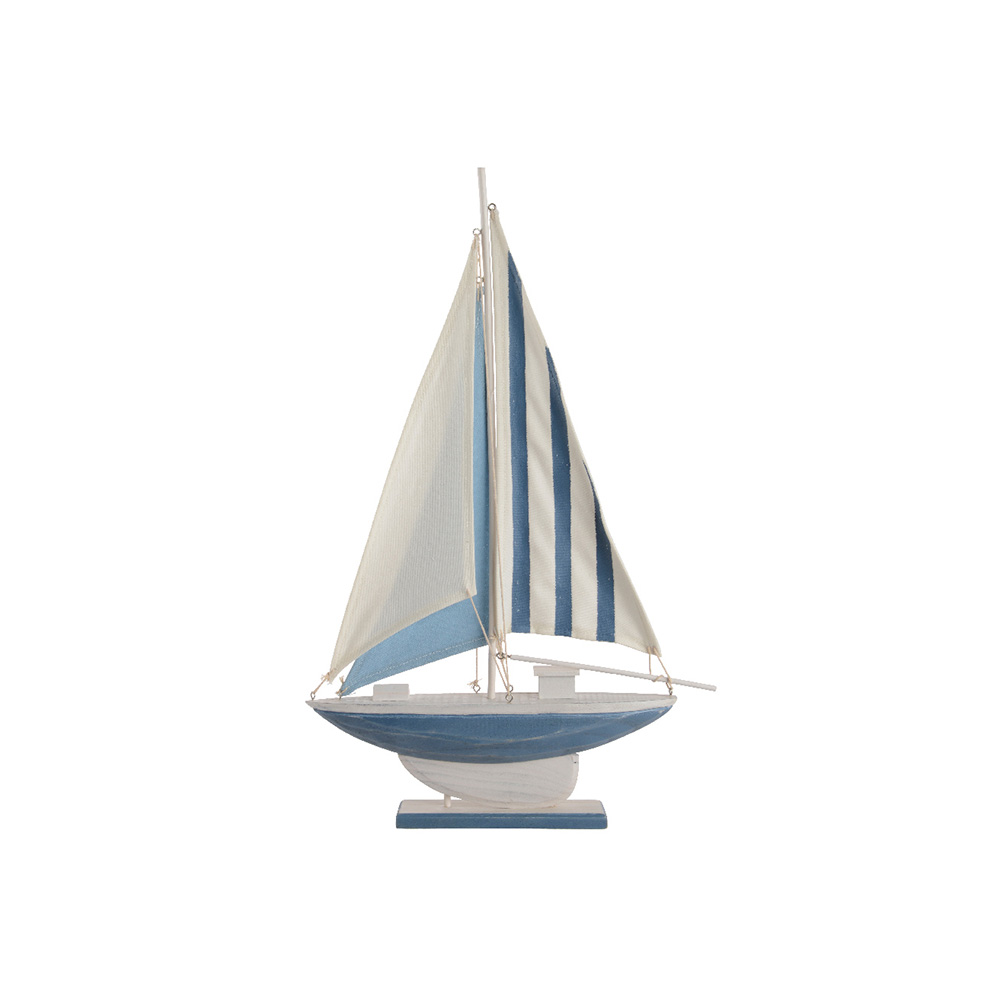 Barco Decorativo De Madera 60Cm