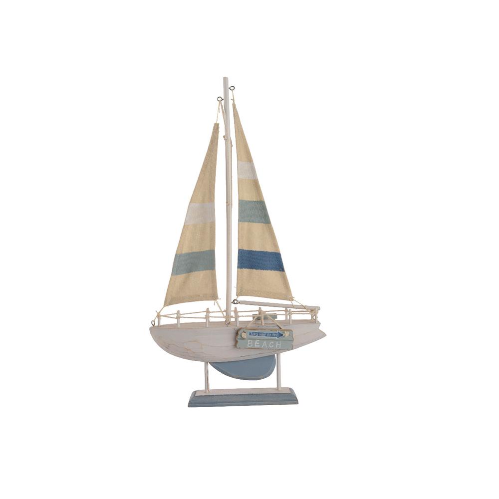 Barco Decorativo De Madera