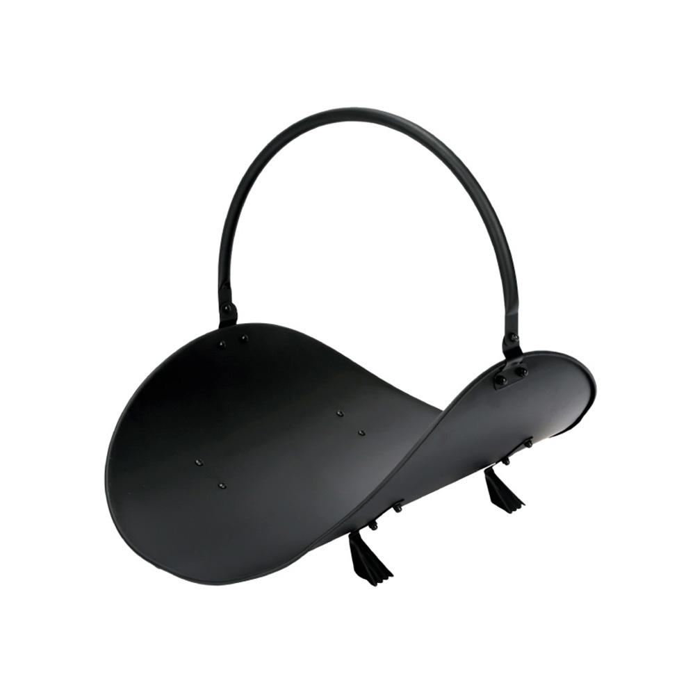 Cesta Metalica Para Leña  - Negra - Edm