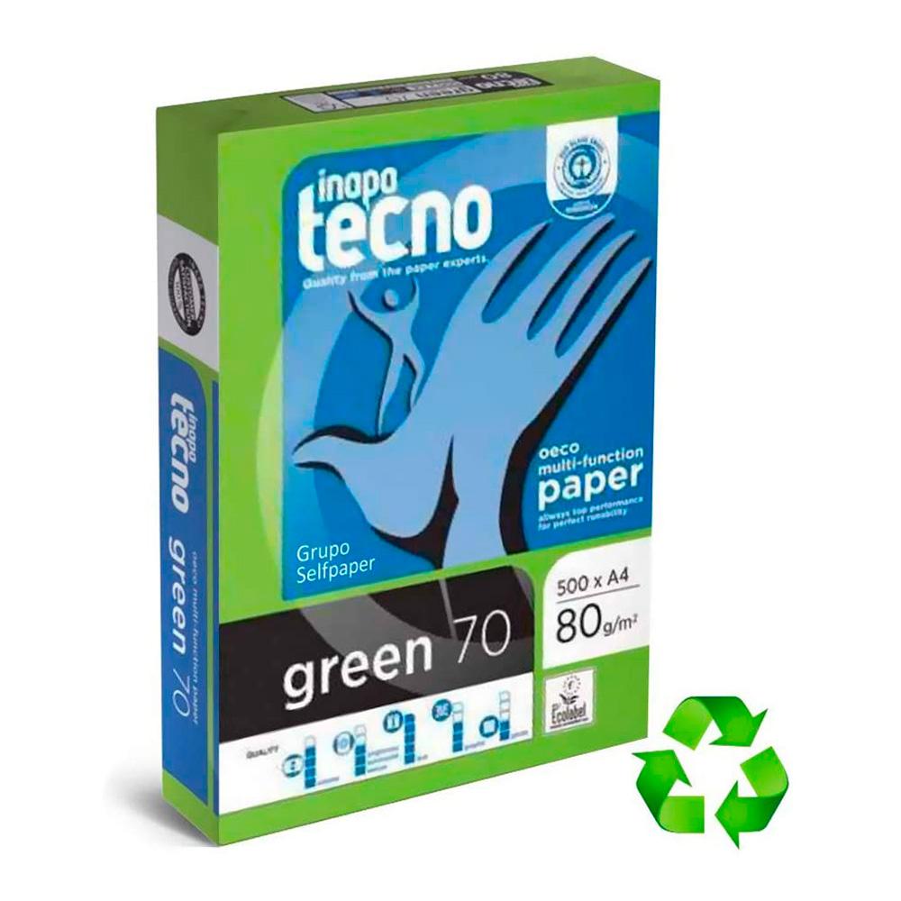 Pack 500 Hojas Papel Reciclado Dina4 80G