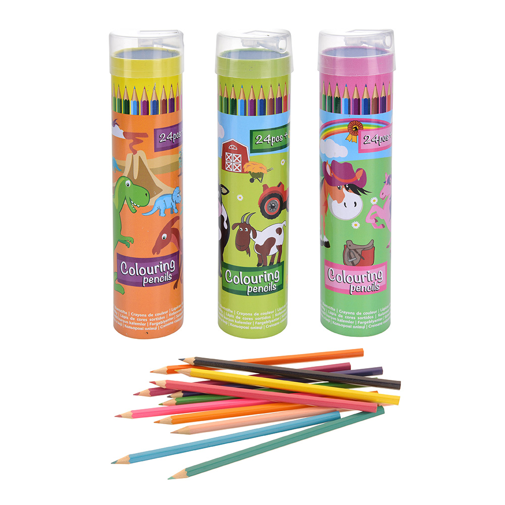 Pack 24 Lapices Madera De Colores