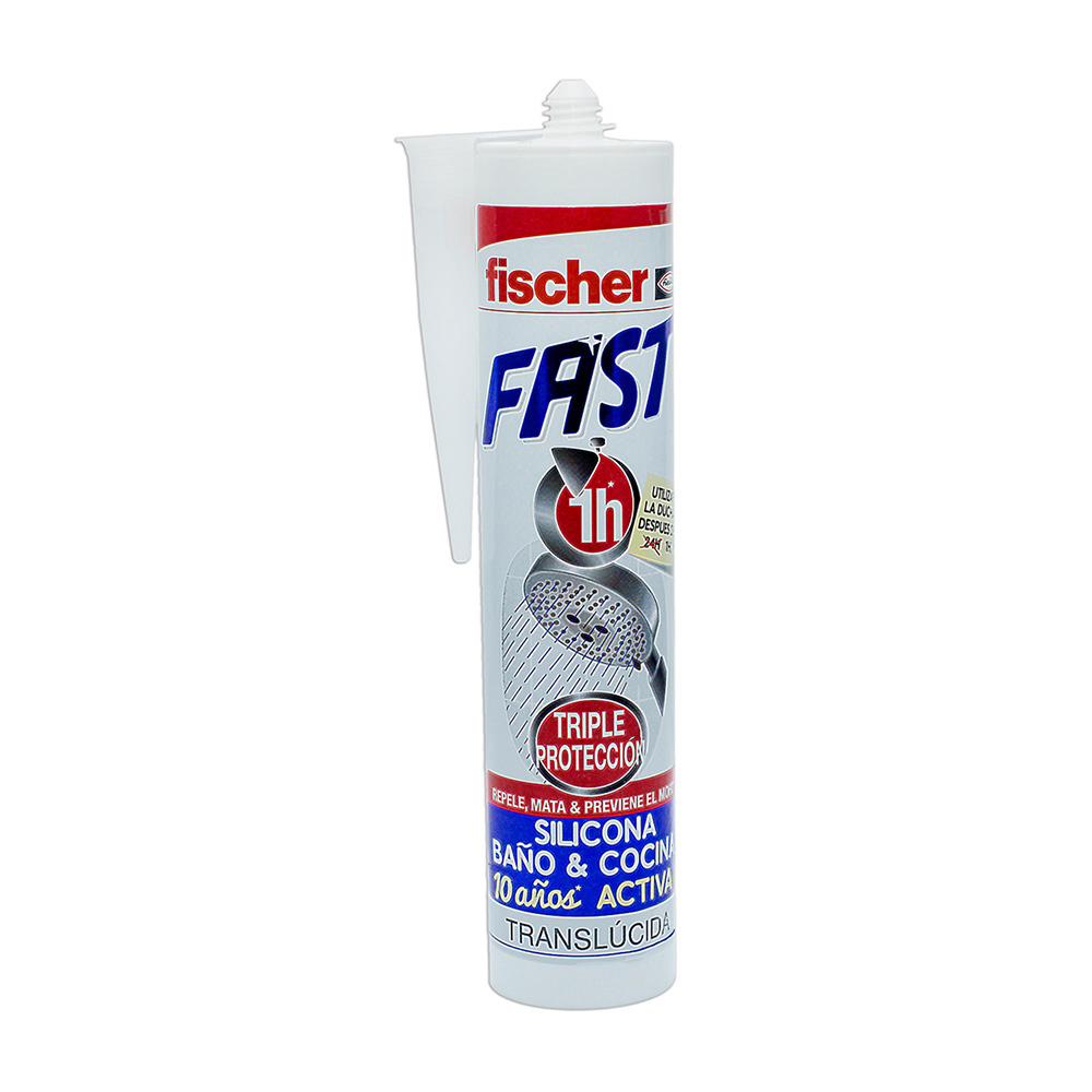 Silicona Fast Translucida Fischer 280Ml