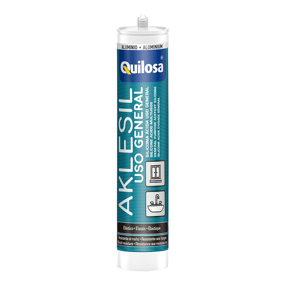 Aklesil Silicona Bronce Cartucho 280Ml Quilosa