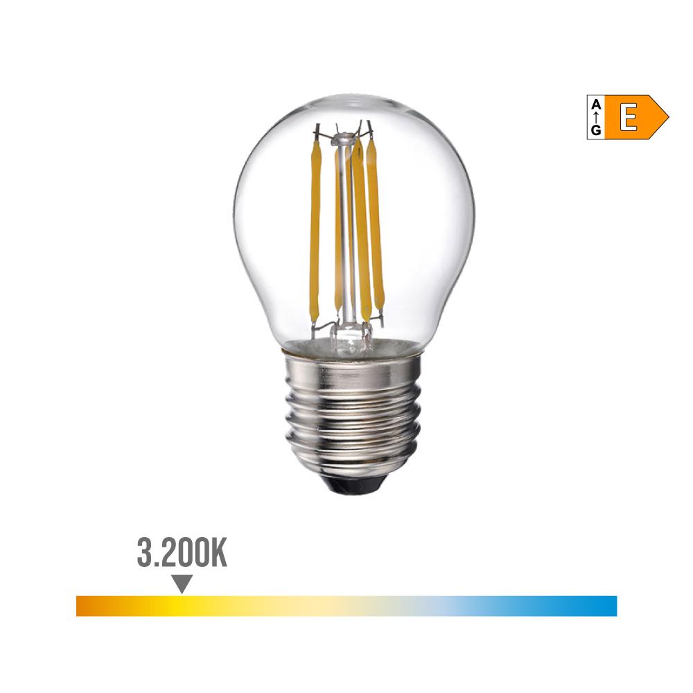 Bombilla Esferica Filamento Led E27 4W 400 Lm 3200K Luz Calida Edm