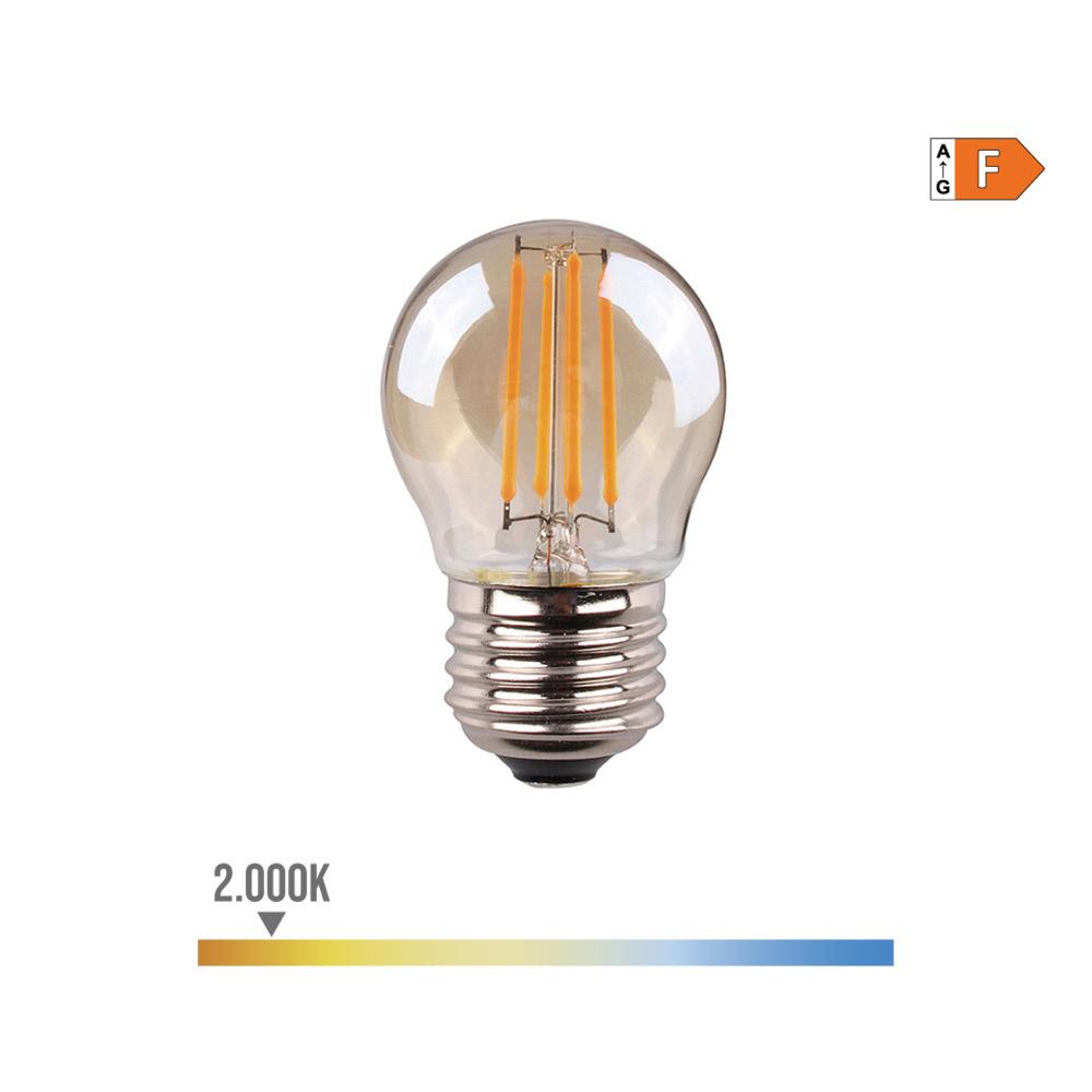 Bombilla Esferica Filamento Led Cristal Vintage 4,5W E27 350 Lumens 2.000K Edm
