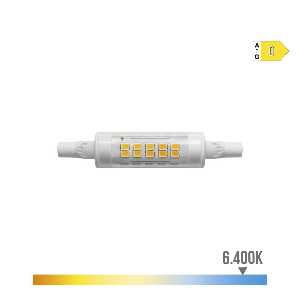 Bombilla Lineal Led 78Mm 5.5W 6400K 230V 600 Lumens Con Base Ceramica Edm