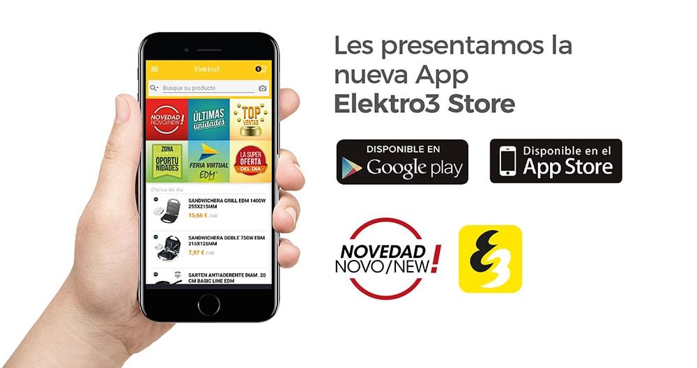 NOVA APLICACIÓN APP ELEKTRO3 STORE PARA CLIENTES – ANDROID E IOS