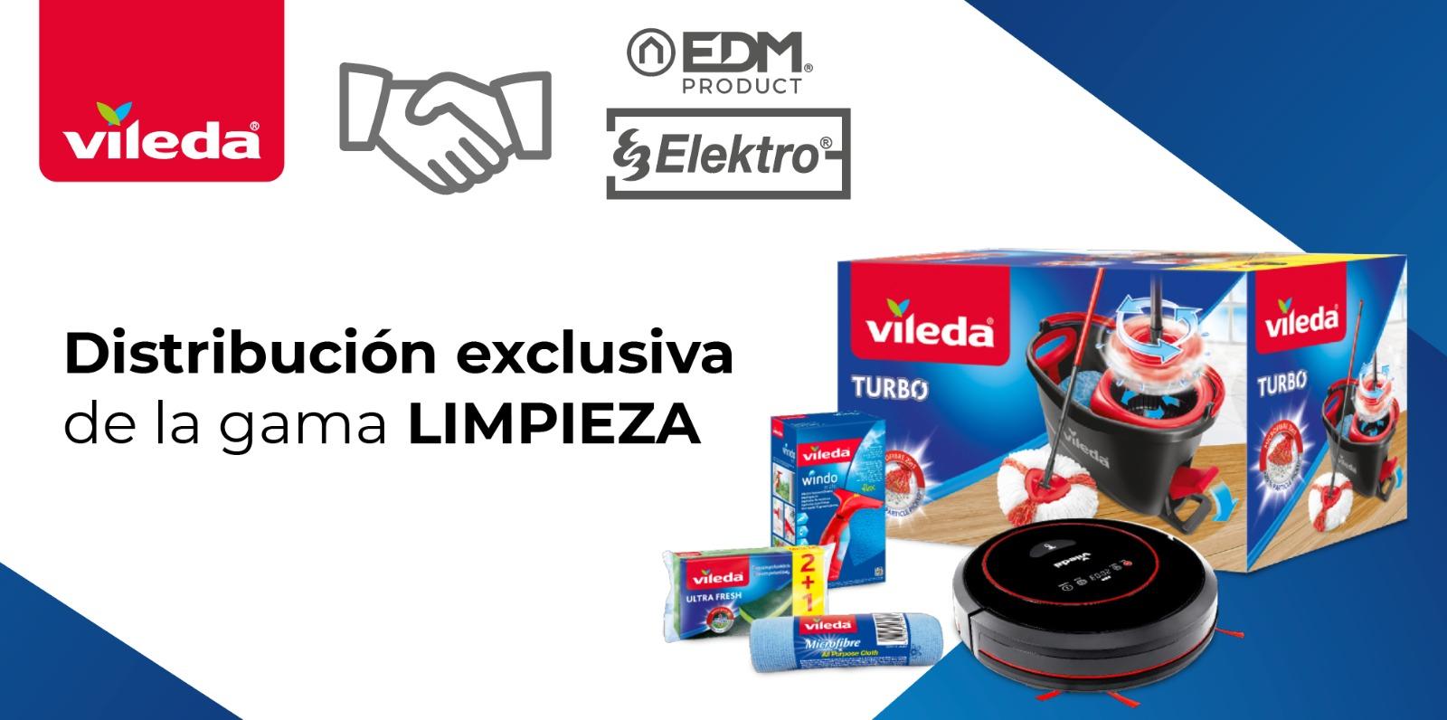 Elektro3-EDM unique distributeur exclusif de Vileda pour les secteurs de la quincaillerie et du bricolage.