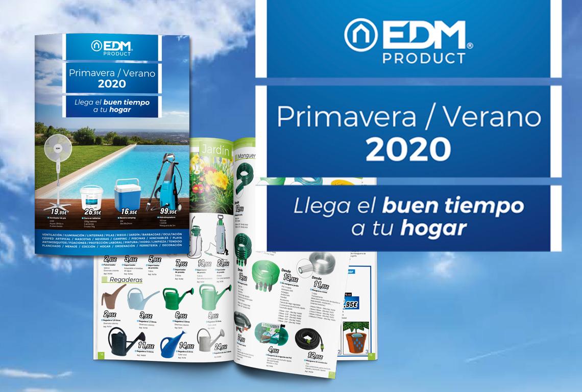 EDM presenta su nuevo folleto de Primavera-Verano 2020 con más de 1.750 productos