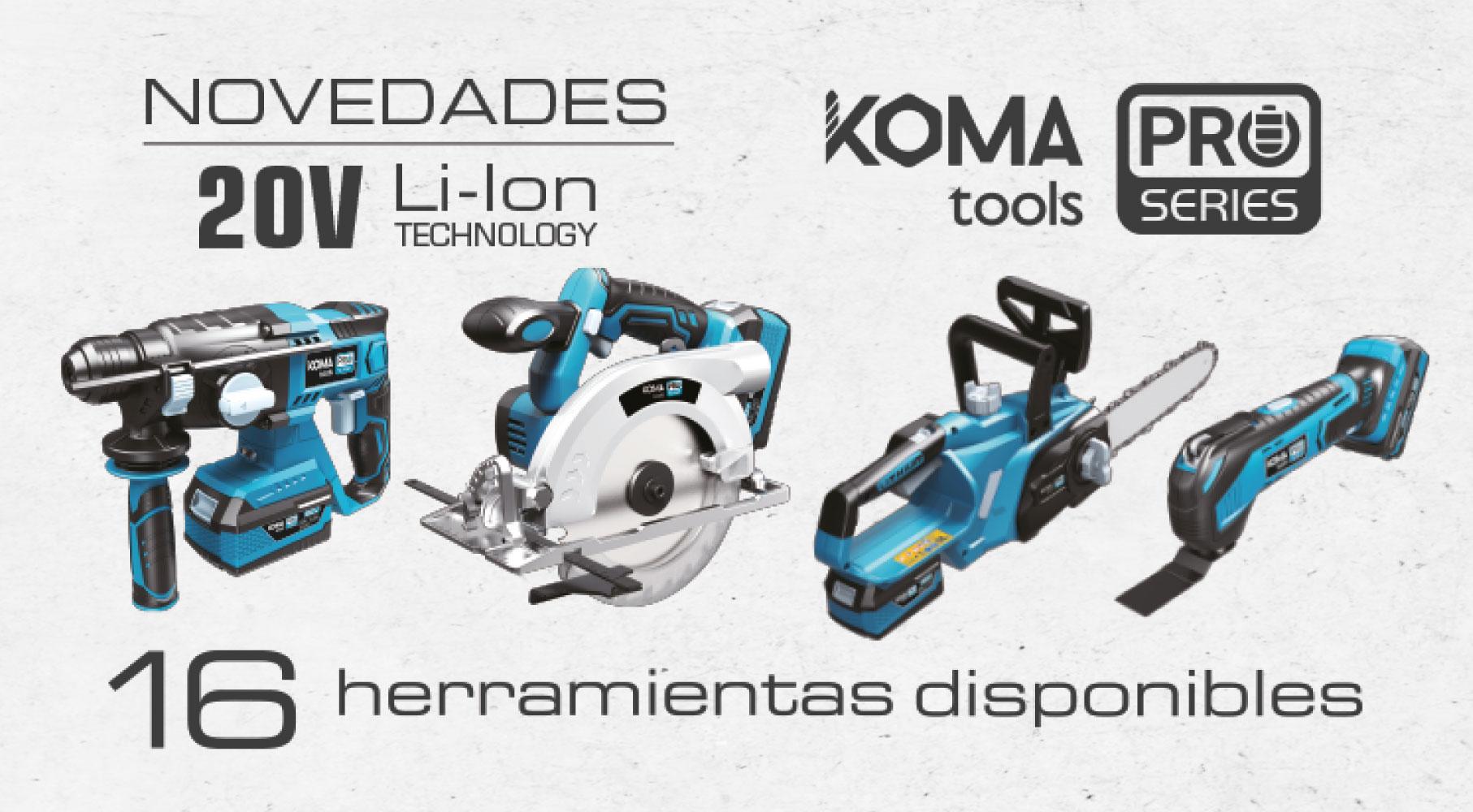 Amplificação da gama de ferramentas profissionais Koma Tools Pro