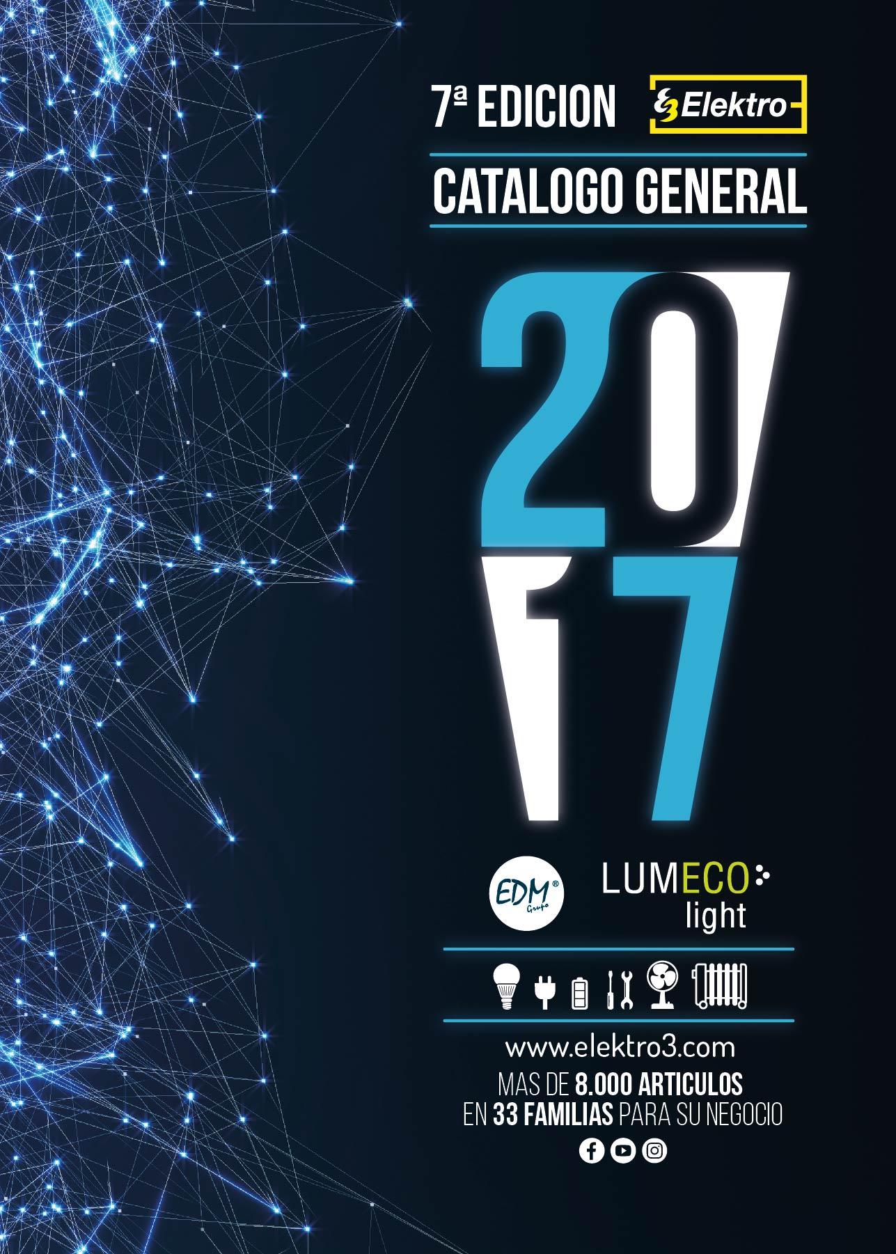 Nuevo catálogo general Elektro3 2017!!!