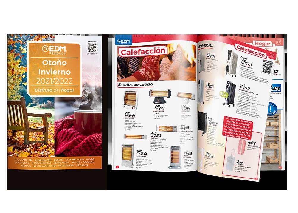 Otoño-Invierno 2021-2022. Nuevo folleto Elektro3-EDM con más de 1.200 productos.